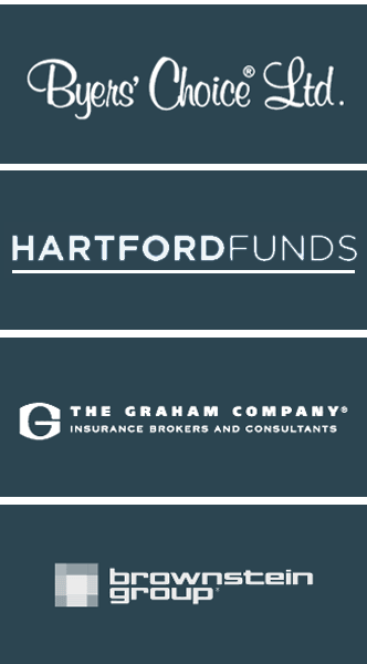 Byers Choice, Hartford FUnds, The Graham Company, Brownstein Group