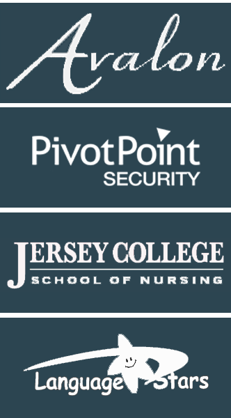 Avalon, PivotPoint Security, Jersey College School of Nursing, Language Stars