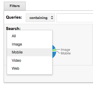 how to locate search filter in mobile google search
