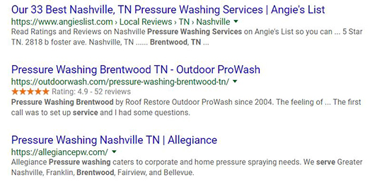 Google reviews snippet for