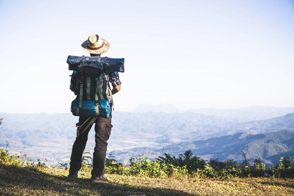 Man Beginning A Journey