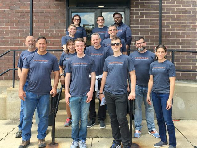FourFront Team Outside of Philabundance