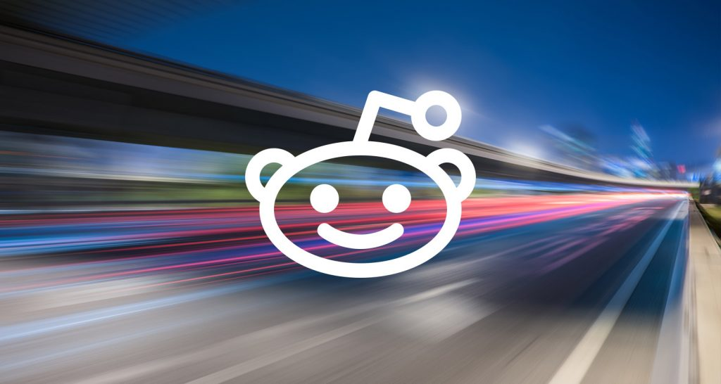 Reddit Logo in Traffic