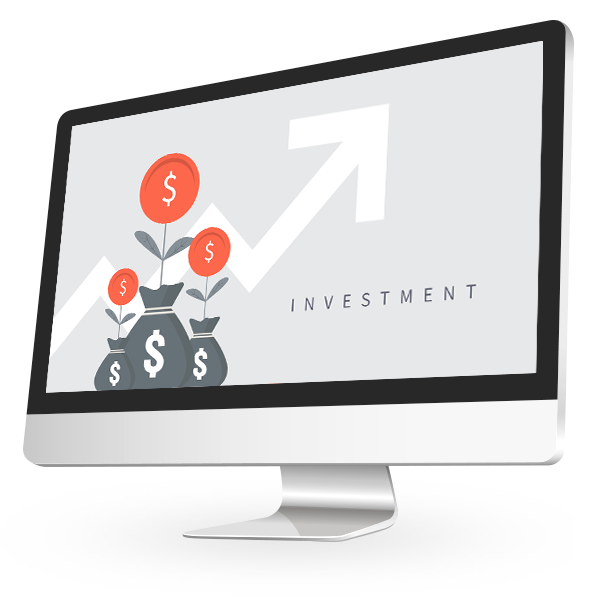 Investment graphic on a computer screen