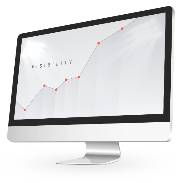 Market visibility graphic on a computer screen